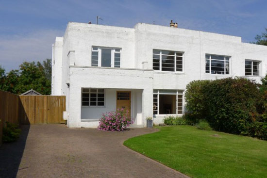 1930s art deco property in St Andrews, Fife, Scotland