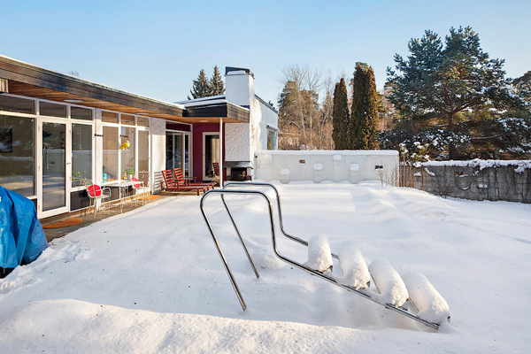 1960s midcentury modern property in Kungsangen, near Stockholm, Sweden