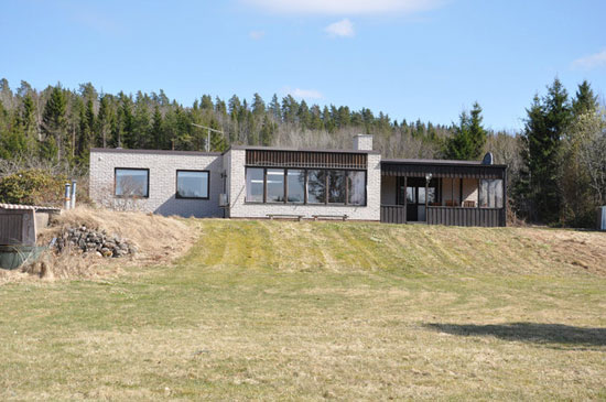 1970s modernist waterfront property in Nassundet, Kristinehamn, Sweden