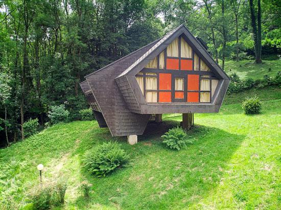 1960s midcentury modern holiday chalets in Ponte Cremenaga, Switzerland