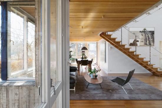 1970s Leonie Geisendorf-designed Villa Delin brutalist property in Djursholm, Sweden