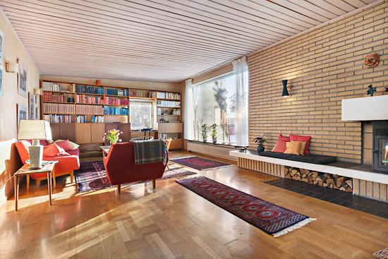 1960s midcentury modern property in Kungsangen, near Stockholm, Sweden