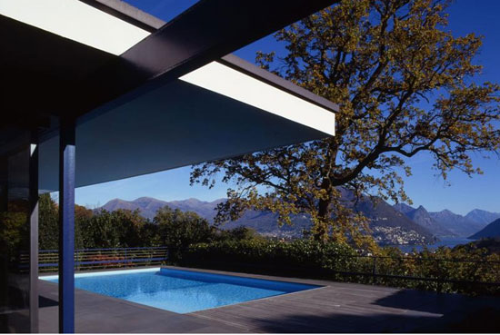 1960s midcentury-style four-bedroom villa in Montagnola, near Lugano, Switzerland