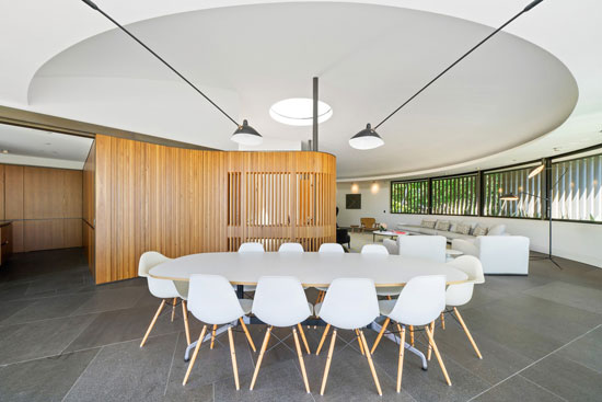 1960s Frank Fox circular house in Sydney, New South Wales, Australia