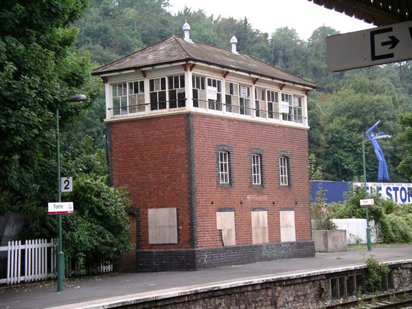 Grade II-listed train signal box in Torquay, Devon