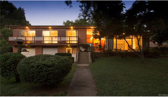 1960s midcentury modern property in Richmond, Virginia, USA