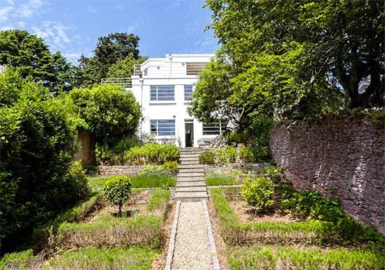 Villa St Ronans 1930s modernist property in Torquay, Devon