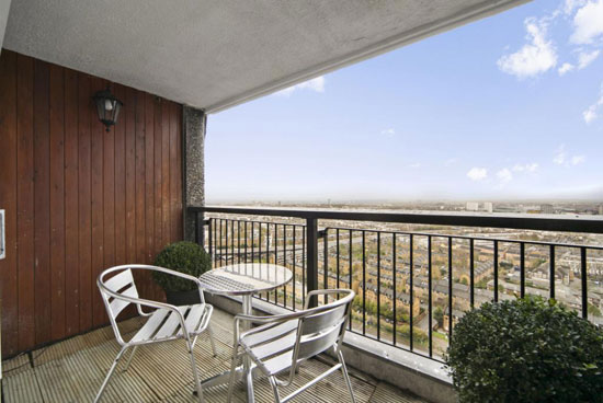 Brutalist rental: Apartment in the Erno Goldfinger-designed Trellick Tower, London W10