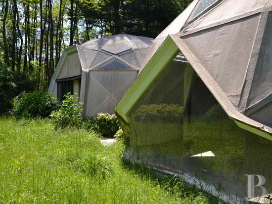 1960s Jean Daladier-designed Les Trois Coupoles villa in Yonne, Burgundy, France