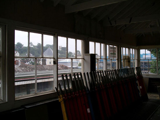 Grade II-listed train signal box in Torquay, Devon