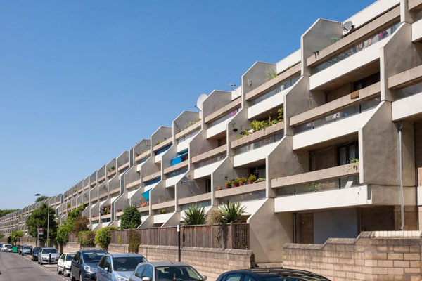 1970s brutalism: Peter Tabori-designed apartment on the Whittington Estate, London N19