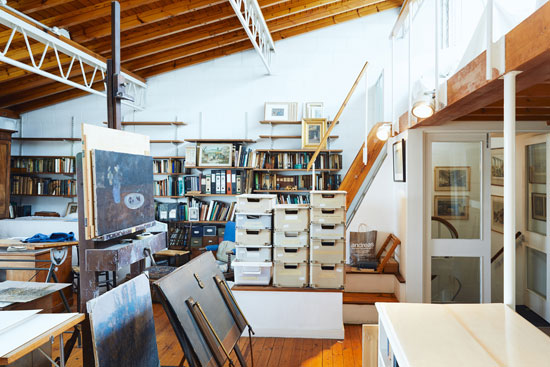 1970s Michael Pattrick artist's house and studio in London W6
