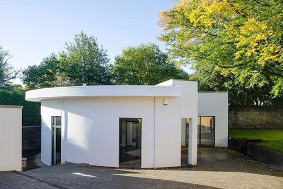 The Round House contemporary modernist property in Thornbury, near Bristol