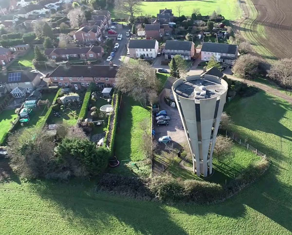 1960s grade II-listed Tonwell Tower in Tonwell, Hertfordshire