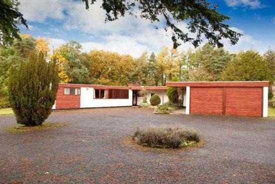 1960s Alan Reiach midcentury modern property in Torphichen, West Lothian, Scotland