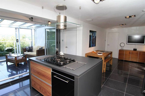 Architect-designed five-bedroomed hillside house in Totley, Sheffield