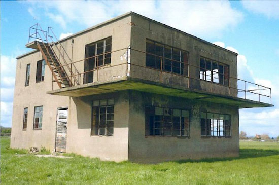 In need of renovation: Former airfield control tower on Berriewood Farm, Condover, Shrewsbury, Shropshire