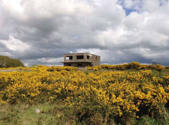 In need of renovation: Former aircraft control tower and land in Winkleigh, Devon