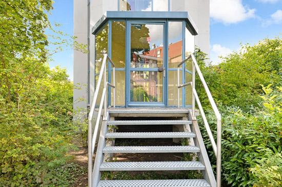1960s modernist water tower in Essen, Holland