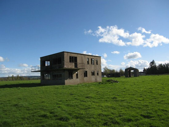 Former airfield control tower on Berriewood Farm, Condover, Shrewsbury, Shropshire