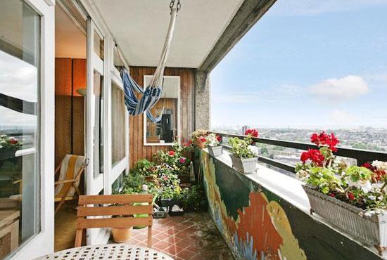 Split-level apartment in the grade II-listed Erno Goldfinger-designed Trellick Tower, London W10