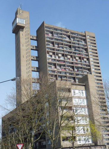 27th floor apartment in Erno Goldfinger's 1960s Trellick Tower, London W10
