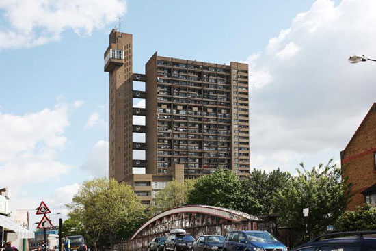 One-bedroom flat in the 1970s brutalist Trellick Tower in Golborne Road, London W10