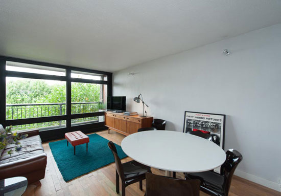 Sixth-floor apartment in the grade II-listed Erno Goldfinger-designed Trellick Tower in London W10