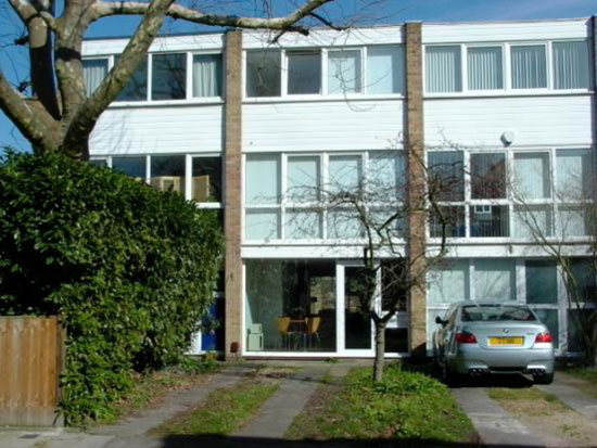 On the market: 1960s King, Moran & Associates-designed four-bedroom town house on Fairlawns in East Twickenham, Middlesex