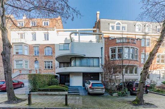 1930s Raphael Delville art deco house in Uccle, Belgium