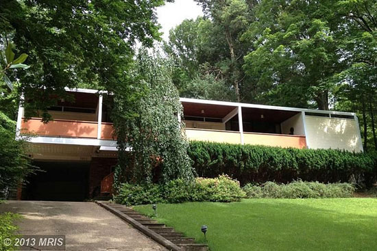 On the market: 1950s Casper Neer-designed midcentury modern property in Alexandria, Virginia, USA