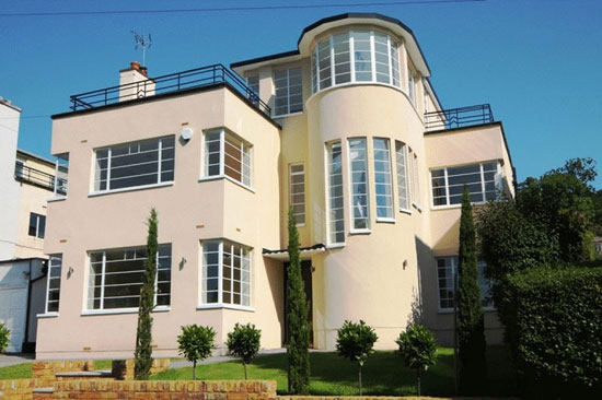 On the market: 1930s Gerald Lacoste-designed art deco property in Stanmore, Middlesex
