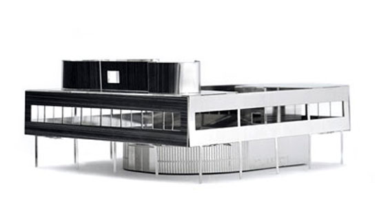 Le Corbusier's 1930s modernist Villa Savoye recreated as a MONUmini architectural model