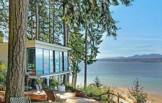 On the market: 1960s William Bain Jr-designed midcentury property in Poulsbo, Washington, USA