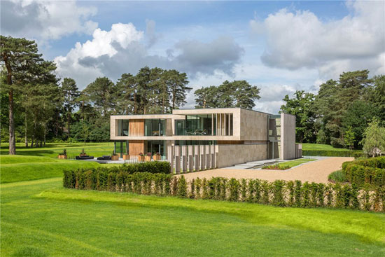 Luxury modernism: Jura property for sale on the Wentworth Estate, Virginia Water, Surrey
