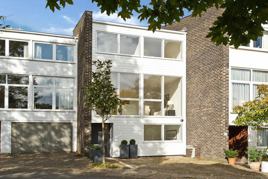 1970s modernism: Townhouse for sale in Wimbledon, London SW19