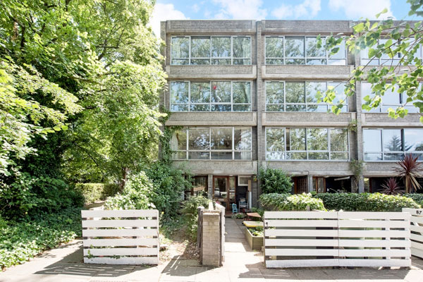10. 1960s Arthur Rubenstein brutalist townhouse in Blackheath, London SE3