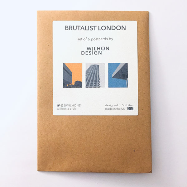 Brutalist London postcard set by Wilhon Design