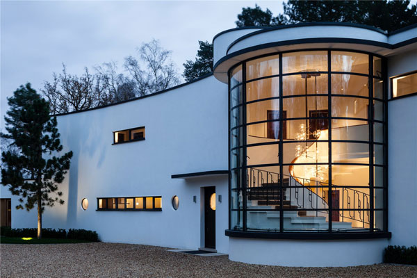 28. Oliver Hill's Cherry Hill art deco house on the Wentworth Estate, Surrey