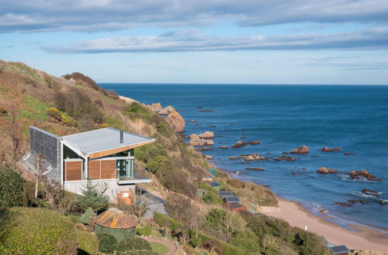The Pavilion modernist property in Coldingham Bay, Scottish Borders
