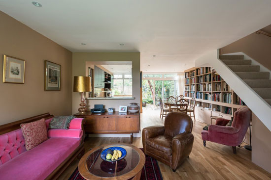 1960s Eric Lyons-designed Span House in Byfleet, near Weybridge, Surrey