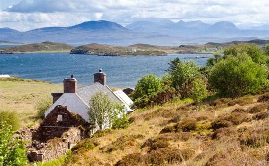 Tanera Mor Wicker Man island in the Inner Hebrides, Scotland