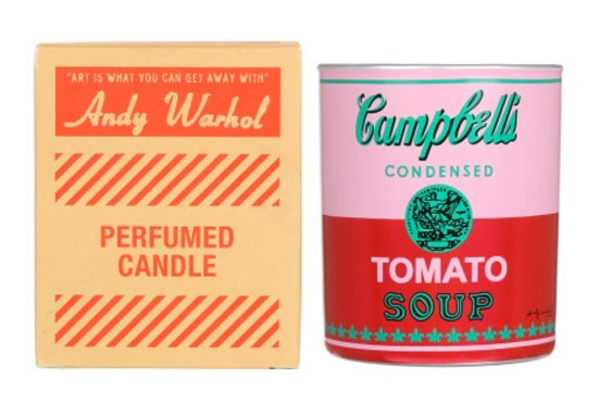Andy Warhol Campbell's Soup Can scented candles by Ligne Blanche