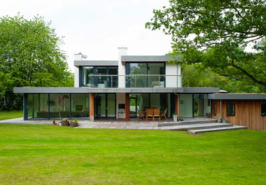 On the market: Eades Hotwani Wilkinson-designed contemporary modernist house in Water End, Hertfordshire
