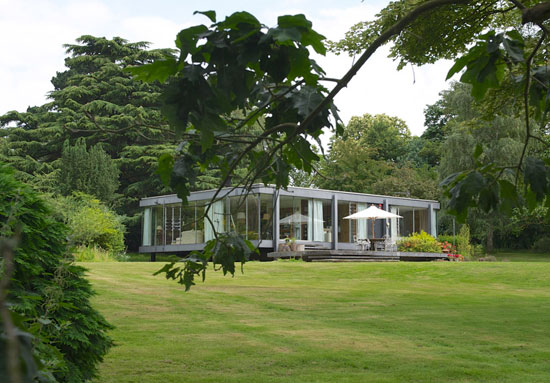 1970s Peter Aldington and John Craig-designed Wedgwood House in Higham, Suffolk