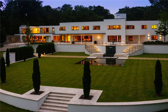 Oliver Hill's Cherry Hill art deco house on the Wentworth Estate, Surrey