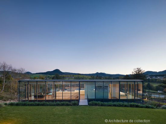 Werner Sobek-designed contemporary modernist property in Le Puy-en-Velay, Haute-Loire, France