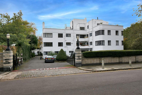 Apartment in the 1930s William Bryce Binnie-designed art deco West Hill Court, London N6