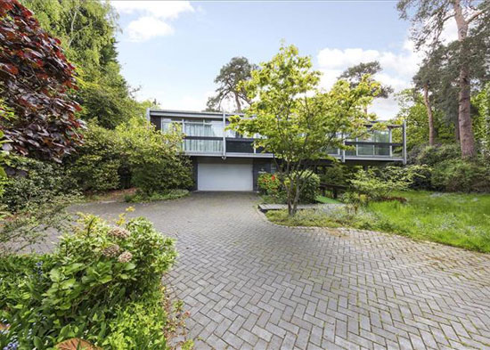 Rumba Panjai 1960s modernist property in St George's Hill, Weybridge, Surrey