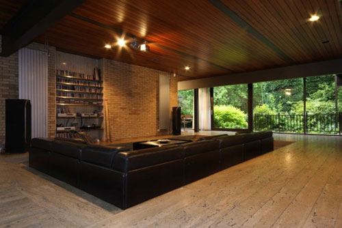 On the market: Frazer Crane-designed 1970s four-bedroomed modernist house in Whitefield, Greater Manchester